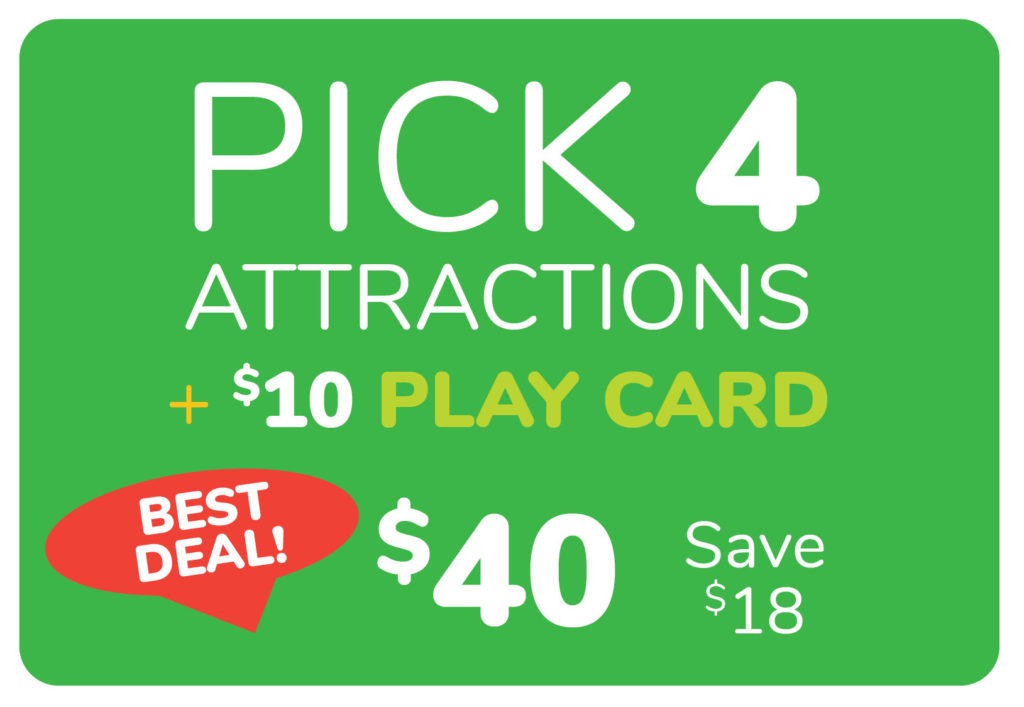 Pick 4 Attractions
